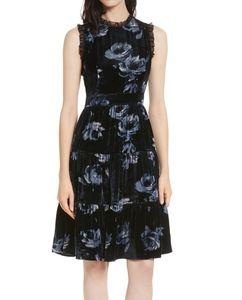 Kate spade rich navy night rose velvet dress